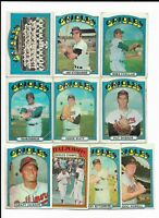 1972 Topps Baltimore Orioles Team Set with Frank and Brooks Robinson, Palmer