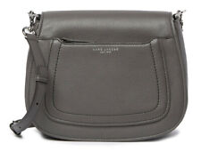 Marc Jacobs Empire City Messenger Leather Crossbody Bag Dark Grey M0013046