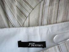 JANE NORMAN StripedShortFlutedLined54%LinenBlend Size8