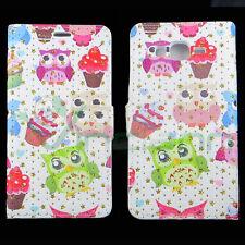 Custodia FLIP cover Owls Stars per iPhone 5 5S SE case stand gufi gufo muffin
