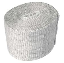 "E-TECH Heat Shield Wrap Exhaust Wrap 4"" White Fibre Glass  550'C 5M Exhaust KIT"