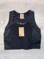 Nike ACG Women's Crop Sport Bra Top CK6868-010 Black Size Large Tight Fit