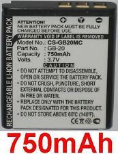 Batterie 750mAh type GB-20 Pour GE E840S G1 G2 G3