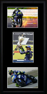 Valentino Rossi  - - Framed Triple Postcard Set PB0198