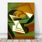 "JUAN GRIS Art - Dish of Fruit CANVAS PRINT 12x8"" - Cubist, Cubism, Abstract"