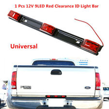 9LED Red ID Light Bar Tail Lamp Waterproof Stainless Steel For Car Truck Trailer