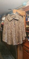 Cb Casual Leopard print Plus Size poncho Pull Over one size fits most GentlyUsed