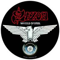 SAXON WHEELS OF STEEL OFFICIAL LICENSED LARGE BACK PATCH METAL BAND BADGE NEW