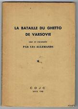 LA BATAILLE DU GHETTO DE VARSOVIE vue et racontée par les Allemands 1946 BE