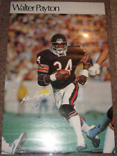 Chicago Bears HOF Walter Payton Autographed Signed SI Sports Illustrated Poster