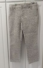 NWT Chico Platinum Denim Jeans Cheetan Two Tone Gray Ankle  Ultimate Fit Size l