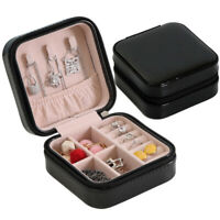 Travel Cosmetic Leather Jewelry Box Necklace Ring Storage Case Organizer New jhg