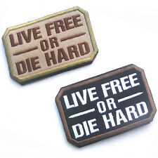 2 PCS LIVE FREE OR DIE HARD USA ARMY U.S. US TACTICAL EMBROIDERY HOOK LOOP PATCH