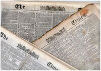 Victorian Newspaper 100 Years before you were born 1815-1891 Unique Vintage Gift