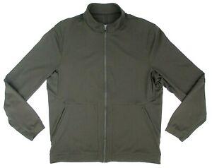 Men's Lululemon Division Track Jacket Dark Olive Green Size XL MINT!