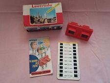 Raro STEREOSCOPIO 3D Viewer Lestrade SIMPLEX Vintage Souvenir LOURDES Catalogo