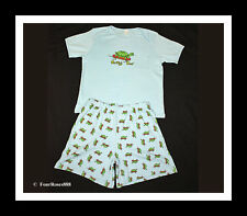 "New Adult Baby Play Diaper Pajamas Short Set Chest 48"" Size Large 100% Cotton"