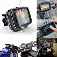 "Motorcycle Handlebar Mount Holder Case Bag For Garmin Nuvi 4.3"" GPS Waterproof"
