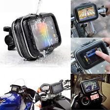 "4.3"" GPS Waterproof Motorcycle Handlebar Mount Holder Case Bag For Garmin Nuvi"