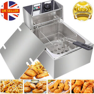 10L Electric Deep Fryer Fat Fry Chip Fast Food Frying Home Restaurant Easy Clean