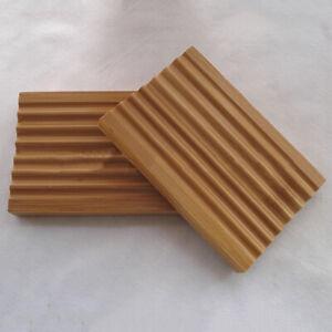 Wooden Soap Dish Wave Type Tray Case Bathroom Bath Shower Storage Holder Plate
