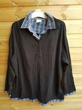 Ladies Black 2 Layer Long Sleeve Top Size 26 by Casual Comfort BNWOT