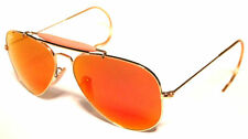 RAY BAN 3030 58 OUTDOORSMAN GOLD ORO PERSONALIZZATO ORANGE MIRROR SPECCHIO REMIX