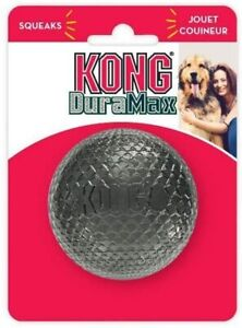 KONG DuraMax Ball Rubber Squeaker Erratic Bounce Squeaky Fetch Dog Toy