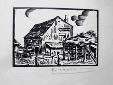Originaldrucke (1950-1999) aus Europa mit Architektur und Holzschnitt