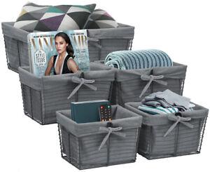 Decorative Storage Basket for Shelves Clothes Linen Closet Basket Organizer Bins
