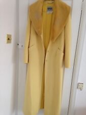 Versace jeans couture yellow designer coat size small