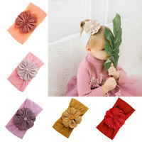 Multi-color Baby Girl Lace Pearl Flower Wide Head Band Turban Hair Supplies Hot