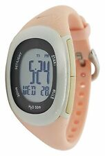 Nike Imara Fit WR0076 Pink Beige Buttons Chronograph Sport Fitness Ladies Watch