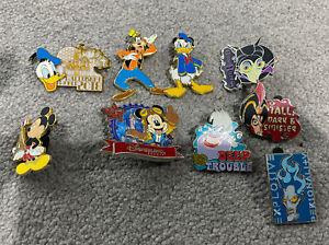 Disney Pin Selection Mickey Donald Goofy Hades Maleficent Ursual Jafar