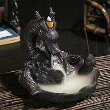 Incense Burner Holder Ceramic Dragon Backflow Cones Smoke Censer Alloys Buddhism