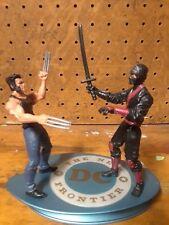 """Lot of 2 Marvel Wolverine Hero Blade Logan 3.75"""" Shadow Strike Ninja Figures"""