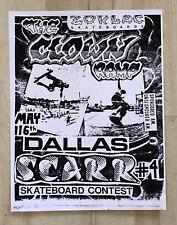 Zorlac Clown Ramp Skateboard S.C.A.R.R. 4 Flier 1980'S Original Scarr Tx