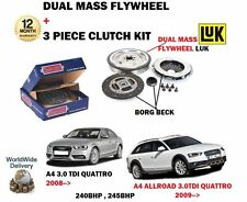 FOR AUDI A4 + ALLROAD 3.0 TDI QUATTRO 240BHP 245BHP 2008-> FLYWHEEL + CLUTCH KIT