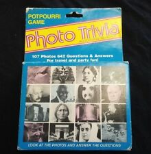 Photo Trivia According to Hoyle... Potpourri Game