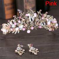 New Pearl Bridal Crown Handmade Tiara Bride Headband Crystal Wedding Queen Crown