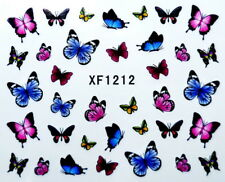 Pretty Colorful Butterfly Star Petals Water-Transfer Nail Art Sticker XF1212