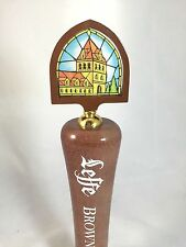 Leffe Blonde Stained Glass Tall Beer Tap Handle Keg Brew Man Cave Large Pub