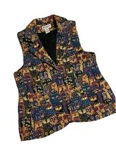 Serengeti M Tapestry Vest Abstract Cats Animal Print Art To Wear