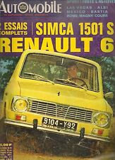 L'AUTOMOBILE 271 1968 RENAULT 6 SIMCA 1501 SPECIAL GP MEXIQUE CANAM TOUR D CORSE