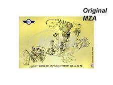AWO Explosionsdarstellung, Farbposter für Motor 425 Einzylinder Viertakt 250ccm