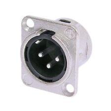Joblot of (x10) Neutrik NC3MD-L-1 XLR PANEL Male SOCKET PLUG 3-WAY
