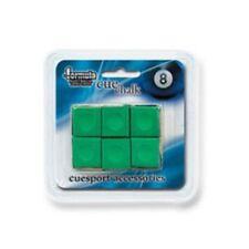 Pioneer Pool Snooker Billiard Cue Tip Table Chalk *GREEN* 1 Pack of 6 blocks