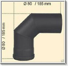 Tube de cheminée Pellet 1,2mm 80 mm Arc tuyau poêle 90° fonte grise