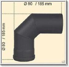 Conducto De Estufa para PELLET 1,2mm Tubo 80MM ARCO 90° GRIS UNIFORME