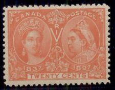 CANADA#59 20¢ Jubilee, og, NH, XF, PSE certificate, Scott $650.00